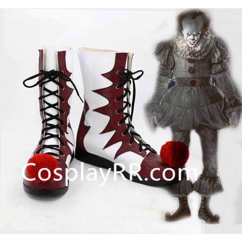 IT Pennywise The Clown Shoes Cosplay Boots for Cheap
