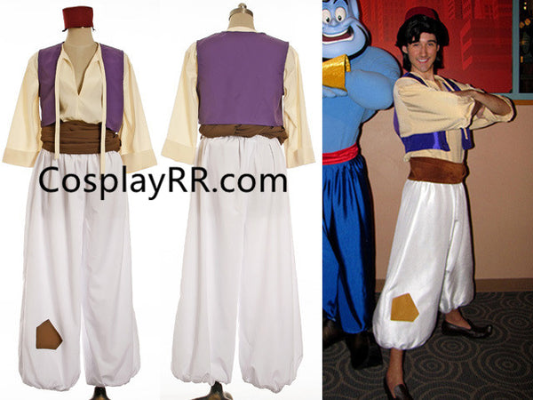 Adult Aladdin Costume with Suit Vest Shirt Pants Hat