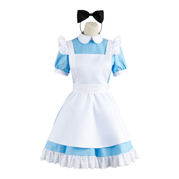 Alice In Wonderland Alice Blue Dress Cosplay Costume Plus Size