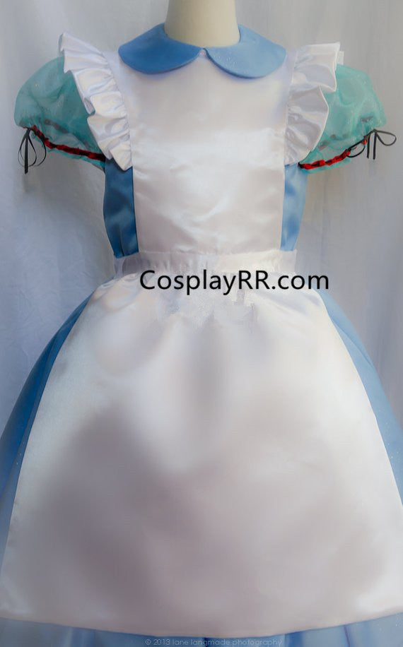 Alice in Wonderland Alice Costume with Apron Pinafore