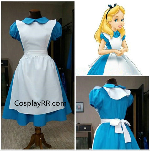 Alice in Wonderland Alice Cosplay Costume