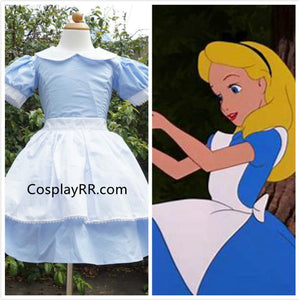 Alice in wonderland Alice costume for girls kids