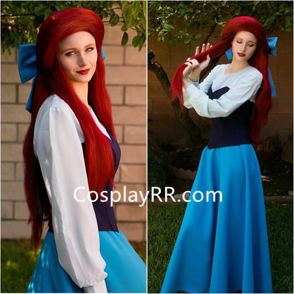 Ariel Blue Dress, Blue Ariel Costume for Adults Plus Size