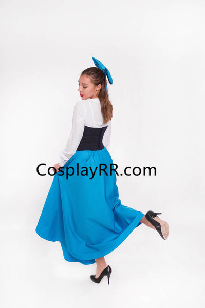 Ariel Blue dress Halloween costume plus size