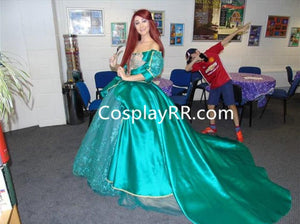 Princess Ariel Green Dress, Ariel Green Costume for Adult Plus Size