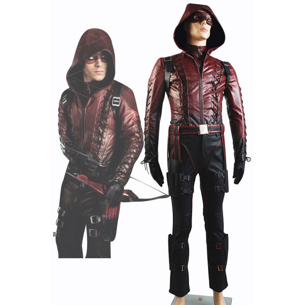 Arrow Season 3 Red Arrow Roy Harper Arsenal Red Costume