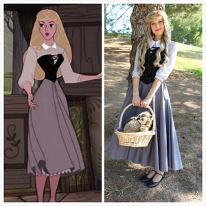 Briar Rose Dress Costume from Sleeping Beauty