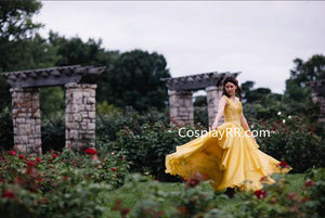 Beauty and the Beast Belle Dress Cosplay Costume 2017 Live Action Movie