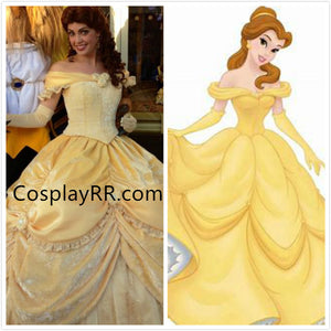 Princess Belle Dress Party Version Costume for Adult