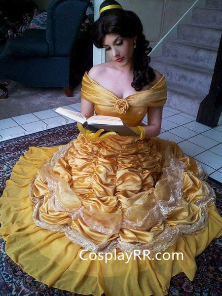 Princess Belle Dress Beauty and the Beast Costume