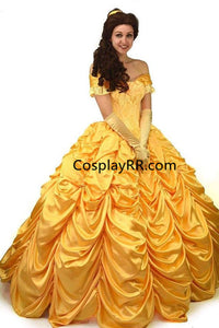 Princess Belle Dress Cosplay Costume Plus Size