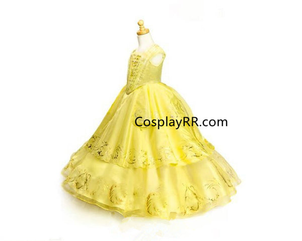 Belle Dress Beauty and the Beast 2017 Belle Costume Gown for Girl Adult Plus Size