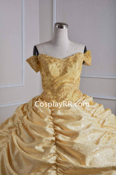 Belle Dress Ball Gown Cosplay Costume for Adults