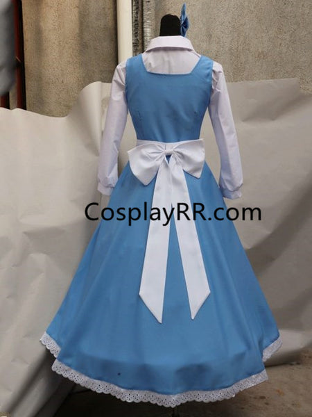 Belle blue dress cartoon costume for adults plus size