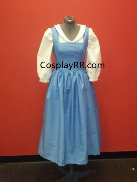 Princess Belle Blue Costume Cosplay Blue Dress