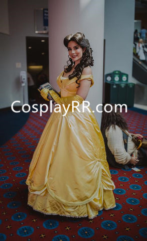 Belle dress yellow costume for adults plus size