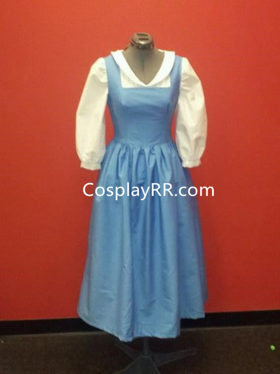 Princess Belle Provincial Blue Dress Cosplay Costume