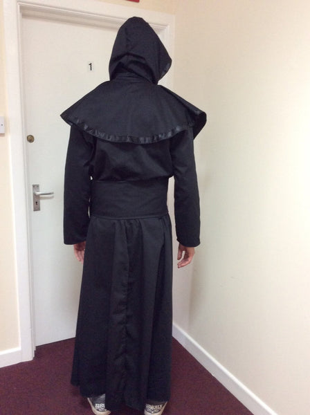 Black Cotton Drill Ghost Nameless Ghoul Infestissumam Cosplay Costume