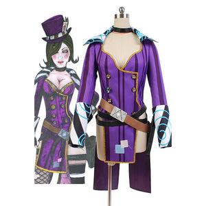 Borderlands 2 Mad Moxxi Costume Purple Uniform Outfits