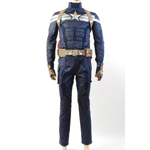 Captain America 2 The Winter Soldier Steve Rogers Costume Uniform Outfit