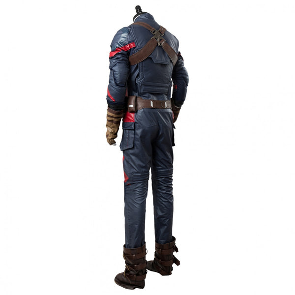 Captain America Steven Rogers Outfit Suit Uniform Cosplay Costume