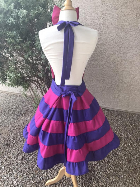 Cheshire Cat Costume Apron Dress for Girls Adult Women