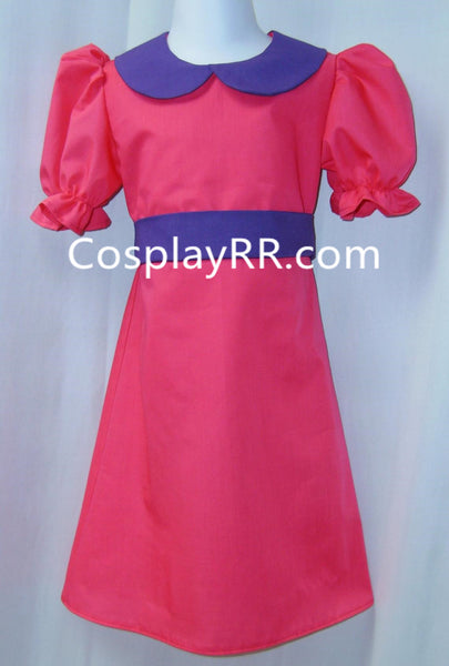 Child's Princess Bubblegum costume Crown cosplay dress outfits