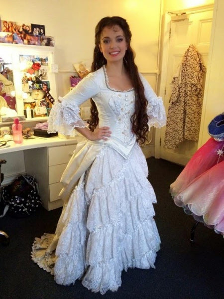 Christine Daae hannibal costume white dress plus size