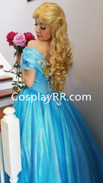Movie 2015 New Cinderella Dress Costume for Sale