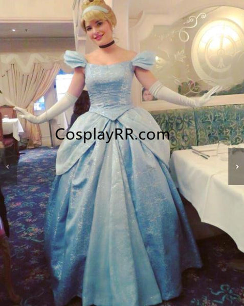 Cinderella dress cartoon costume for sale plus size