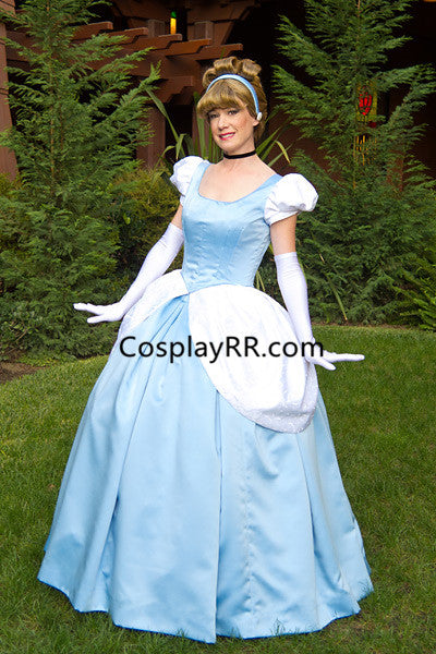 Cinderella dress cosplay costume cartoon for adult plus size