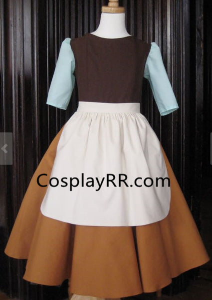 Cinderella Rags Costume Maid Dress for Child Adult