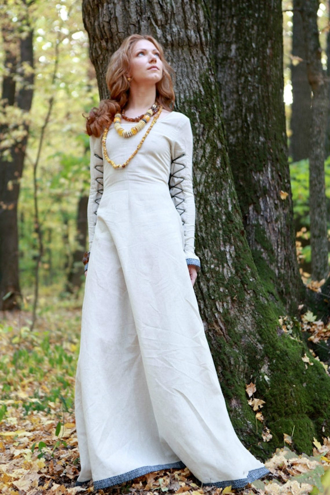 Classic Medieval Dress with Lacing Sunshine Janet