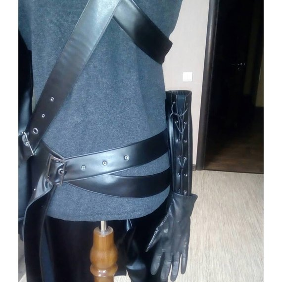 Cloud Strife cospay costume Jacket Vest Pants