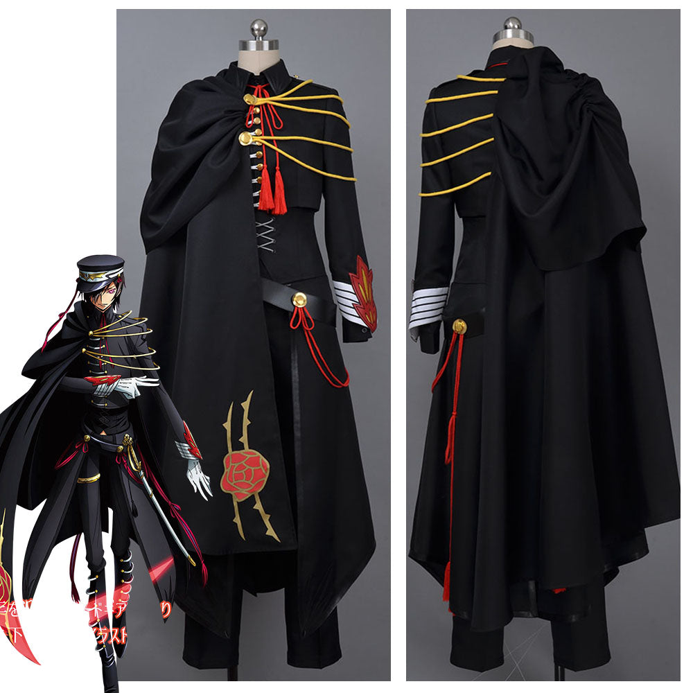 Code Geass Lelouch Costume Cosplay Outfit Code Geass Lelouch of the Rebellion Code Black in Ashford