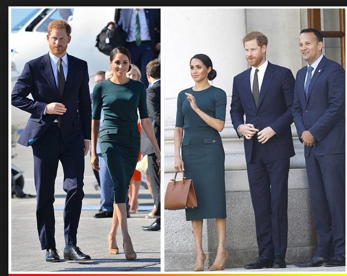 Cosplay Duchess Meghan Markle Green Dress