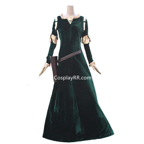 Cosplay Princess Merida brave costume for adults