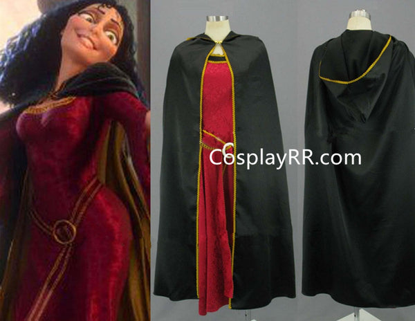 Cosplay Tangled Mother Gothel costume women dress Adult