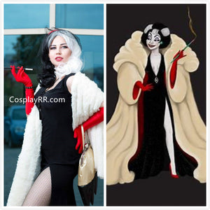 Cruella De Vil costume faux fur coat plus size