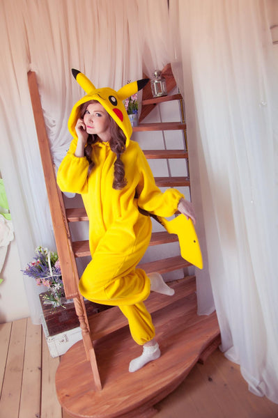 Custom Yellow mouse kigurumi pajama Costume for adult onesie