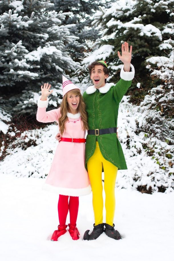 Christmas Buddy Elf Costume & Jovie Costume for Kids Adult
