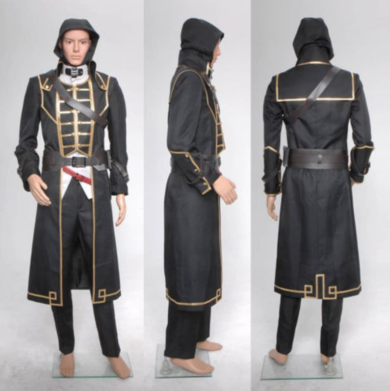 Dishonored Corvo Attano Costume Coat Vest Shirt Pants Belts