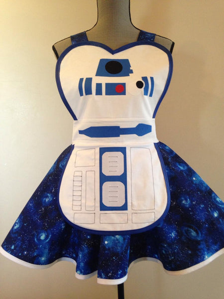Droid apron costume retro apron plus size for child adult
