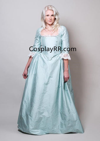 Eliza Schuyler Blue Colonial Dress Cosplay Costume
