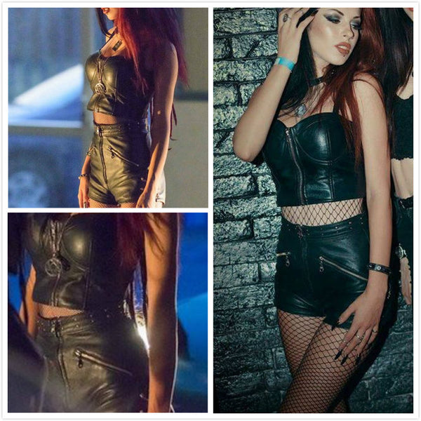 Fast and Furious Womens Rocker Costume Leather Rocker Cosplay Costume
