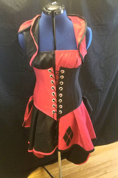 Female Harlequin Costume Harley Quinn Halloween Costume