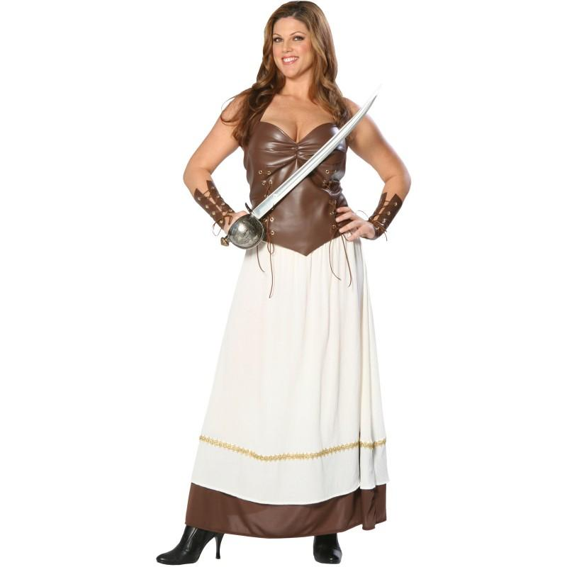 Female Xena costume plus size Xena dress