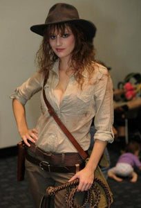 Female indiana jones costume for ladies women with hat