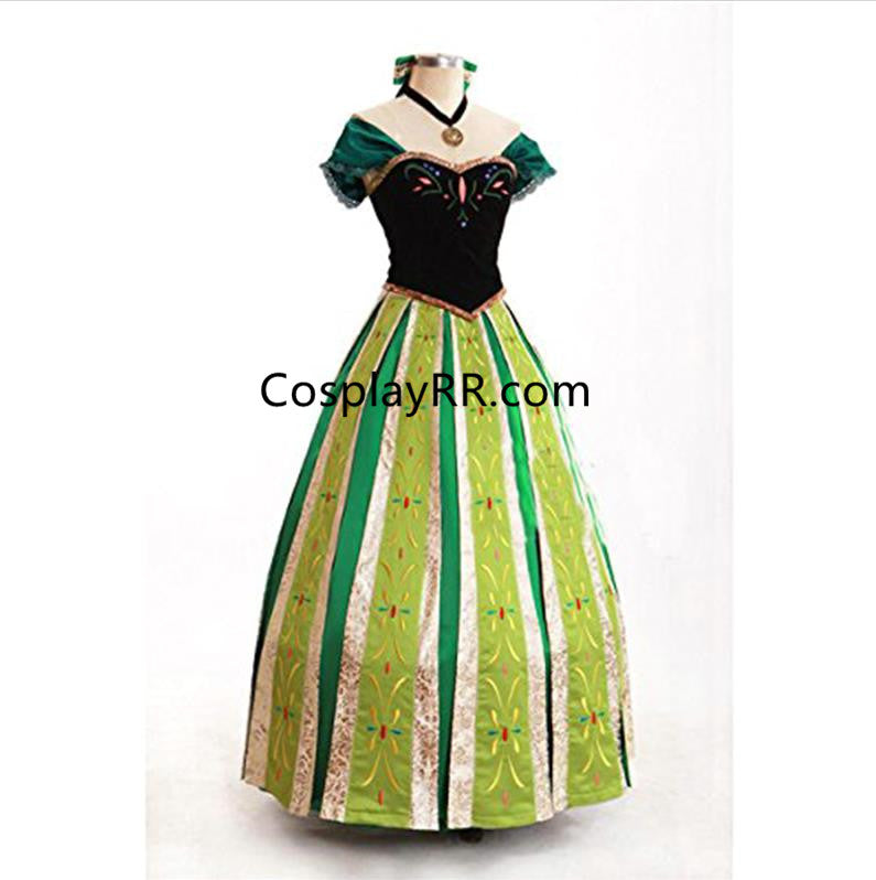 Frozen Anna coronation dress adults costume sale plus size