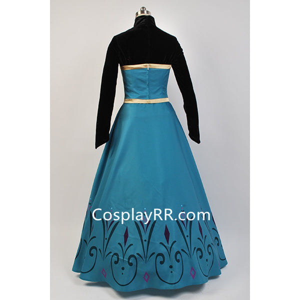 Frozen Elsa Coronation Dress Adult Costume with Cape